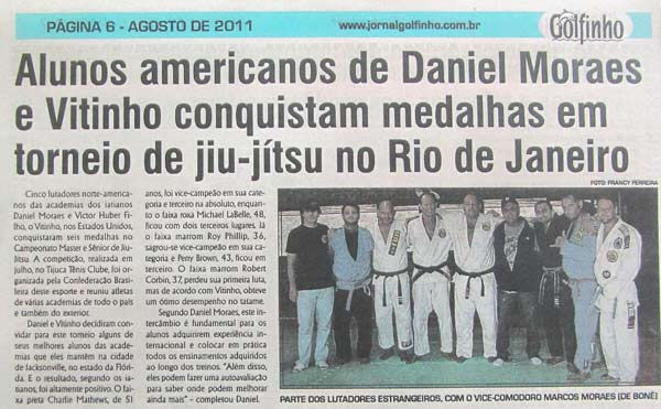 Our fighters featured in local Rio de Janeiro newspaper