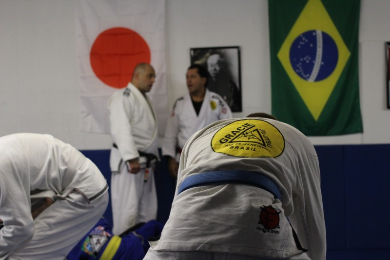 Master Victor Huber and Master Rolker Gracie during Rolker's Seminar